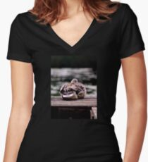 Here's Lookin At You Kid! Women's Fitted V-Neck T-Shirt