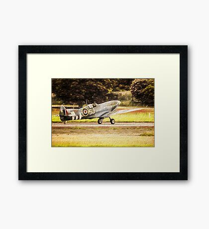 Spitfire Painting Framed Print