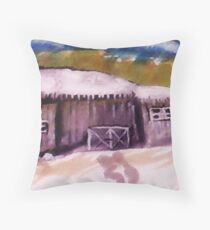First snow of the season, watercolor Throw Pillow