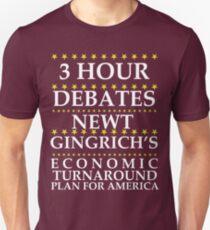 Newt Gingrich - 3 Hour Debates Unisex T-Shirt