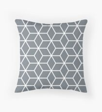 CoolGrey Interlocked hexagon lattice Throw Pillow