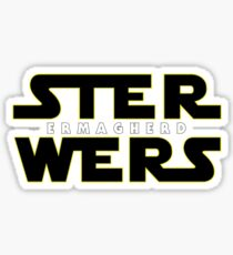 STER WERS - ERMAGHERD Sticker