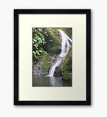 Rarotonga waterfall Framed Print