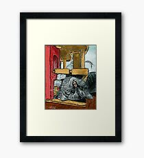 Daisy Playing Framed Print