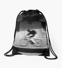 Passing-by cyclist Drawstring Bag