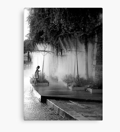Little Girl at Paris Plages II Canvas Print