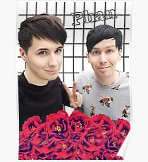 Phan and flowers Poster
