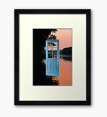 The portal to zen living Framed Print