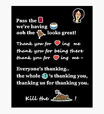 Linda Belcher Thanksgiving Song Photographic Print