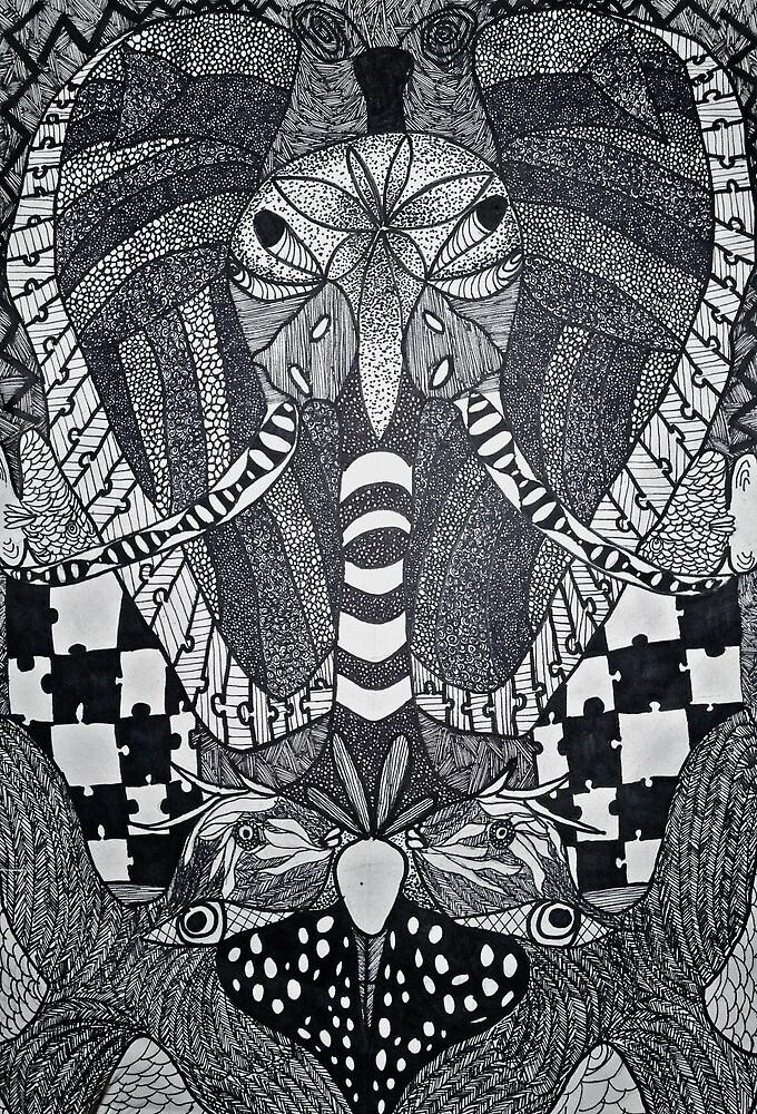 Elephant Symmetry by savannah price