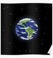 Pixel Earth Poster