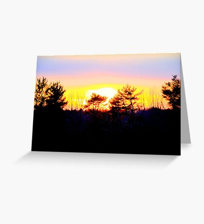 A Powerful Sunset Greeting Card