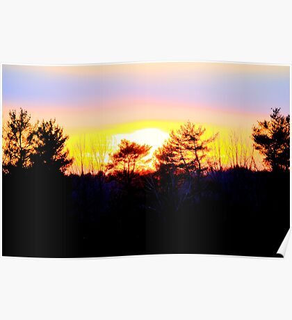 A Powerful Sunset Poster