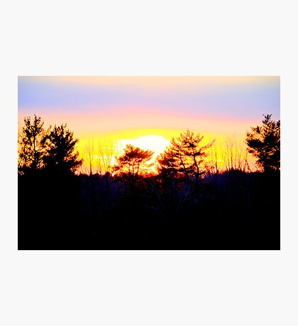 A Powerful Sunset Photographic Print