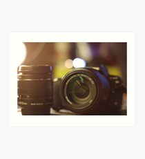 Photography in a picture Art Print