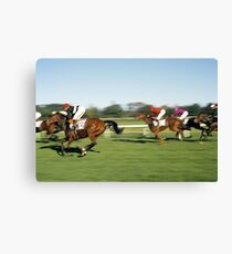 Horse Racing, Germany, 1980s. Canvas Print