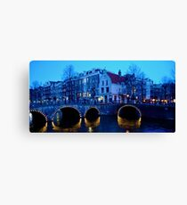 Dusk in Amsterdam Canvas Print