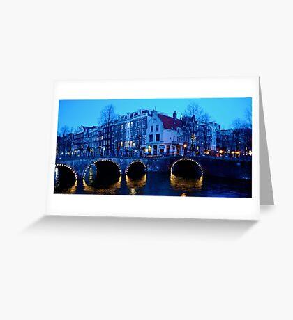 Dusk in Amsterdam Greeting Card