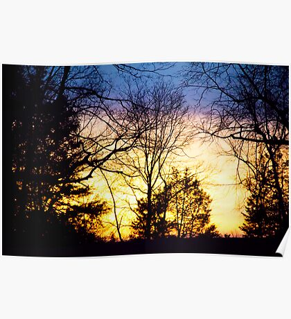 Layers Of A Sunset Poster