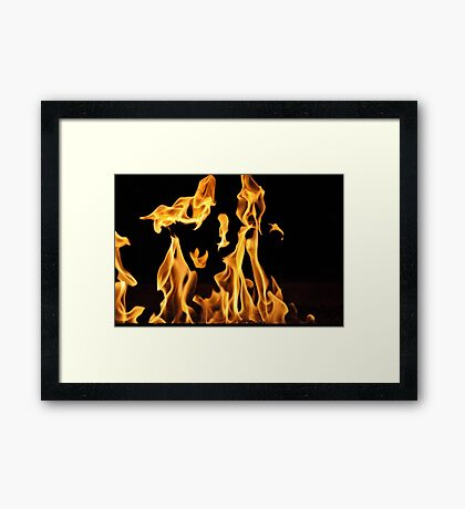 Dancing Flames Framed Print