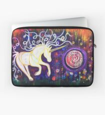 Into the Vortex - Unicorn Spiral Inner Power Painting Laptop Sleeve