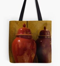 Reflection of Red Tote Bag