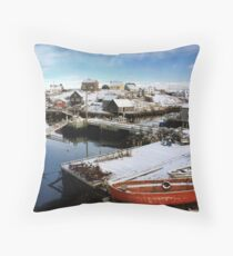 Peggy's Cove Harbour Throw Pillow