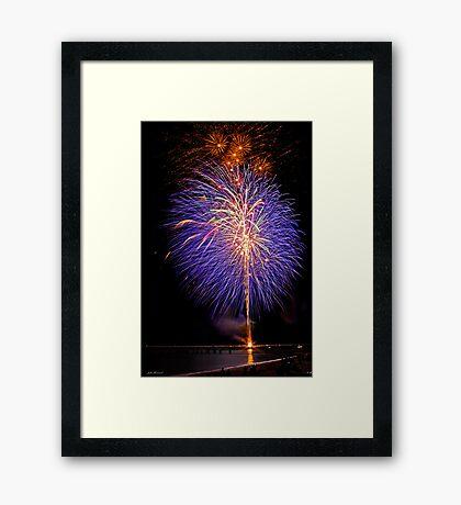 Purple Fireworks, Busselton 2012 Framed Print