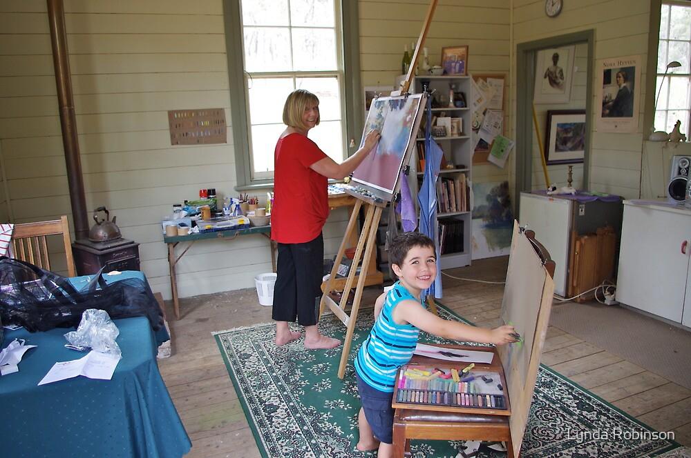 'Artist's at Work' by Lynda Robinson