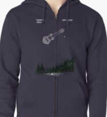 "Davenport Johnson ""Constellation"" Long Image T-Shirt Zipped Hoodie"