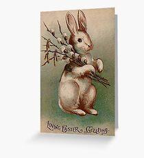 Vintage Easter Bunny Grußkarte