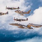RAAF History Flight Formation by Mark Greenmantle