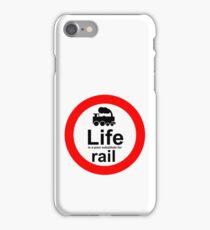 Rail v Life - White iPhone Case/Skin