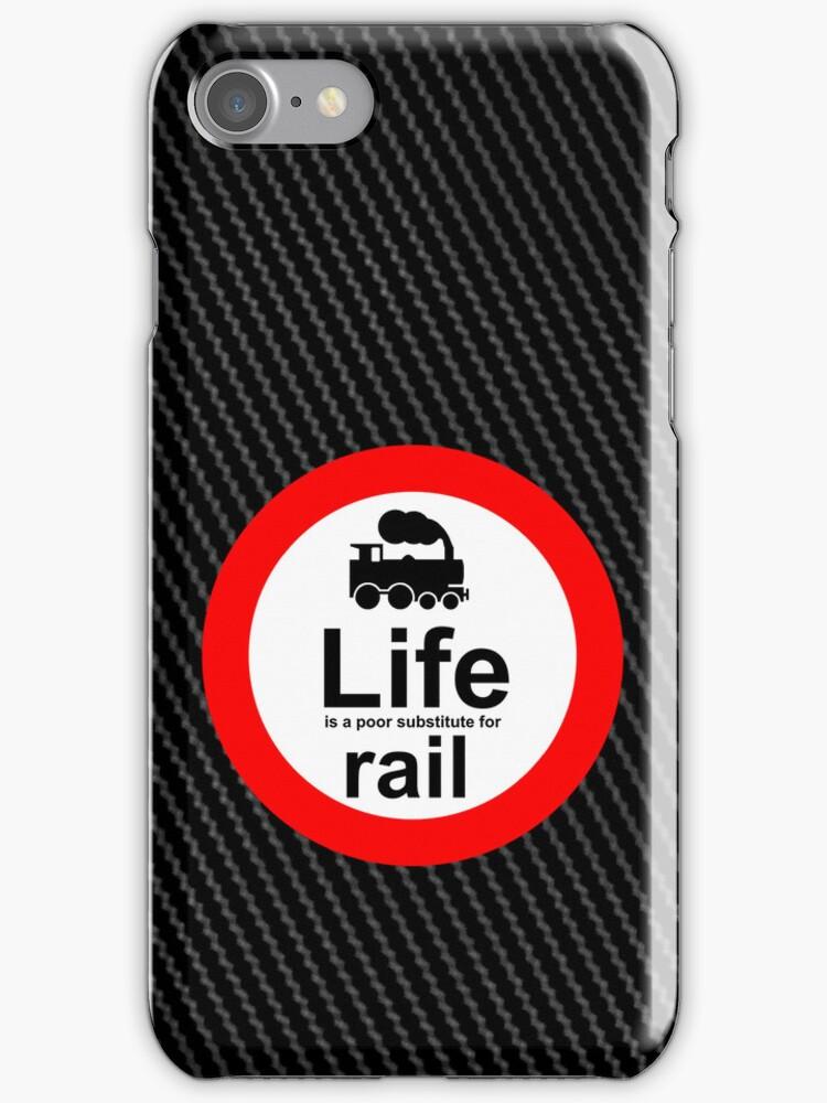 Rail v Life - Carbon Fibre Finish by Ron Marton