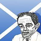 Alex Salmond Funny Cartoon Caricature 1 by Grant Wilson