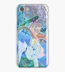 Fluorescent Blue iPhone Case/Skin