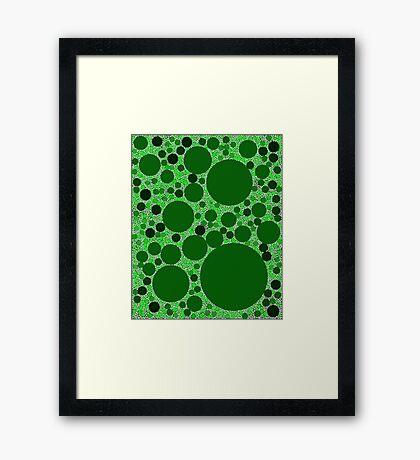 Random Tiling Greener Framed Print
