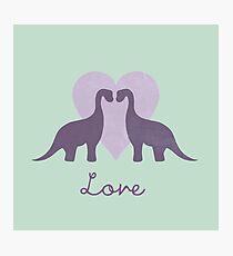 Prehistoric Love Photographic Print