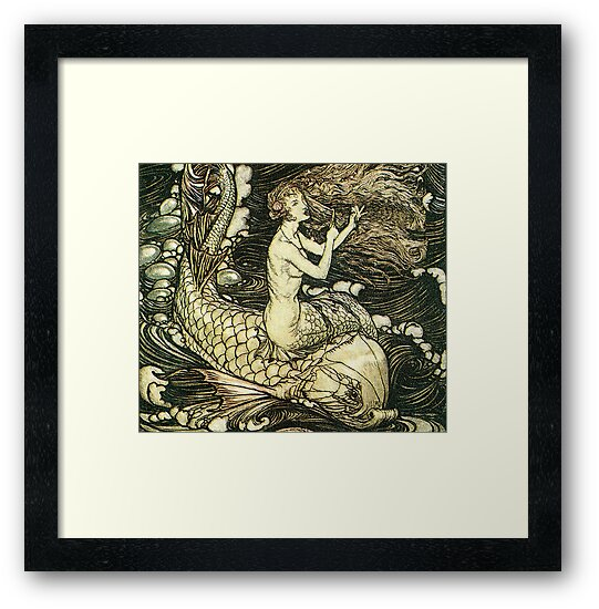 Victorian mermaid illustration by urbanmermaid