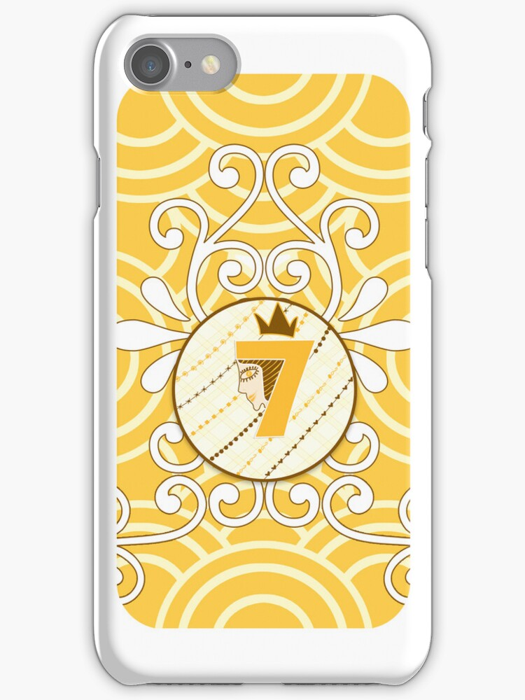 Orange Cream Circle Iphone 4/4s Iphone 4 Case by seventh7