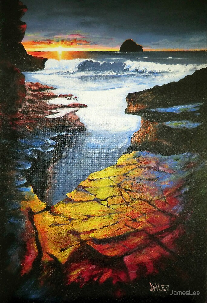 Quot Sunset At Gull Rock Quot By Jameslee Redbubble