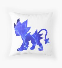 Luxray used discharge Throw Pillow