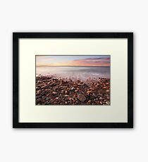 Sunrise Shoreline Framed Print