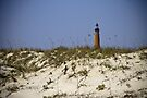 Beachview of Ponce Inlet Lighthouse by ValeriesGallery