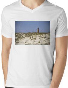 Beachview of Ponce Inlet Lighthouse Mens V-Neck T-Shirt