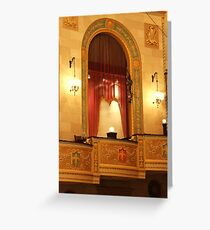 Balcony in Detroit Orchestra Hall in Michigan Greeting Card