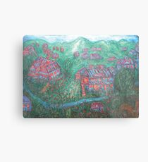 Green Village Metal Print