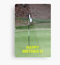 Golfer Happy Birthday Metal Print