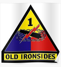 1st Armored Division Crest Poster