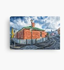 Red Brick House in Hobart Canvas Print